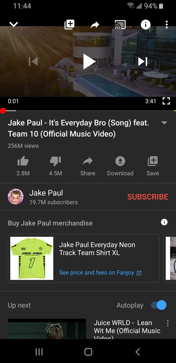 When  Jake Pauls -it every day bro has more likes then Nick Cannons -pray for him  @jakepaul @NickCannon  @LoganPaul  @jakepaulsmusic @ShopMrBeast https://t.co/Im2EZ2vH9v