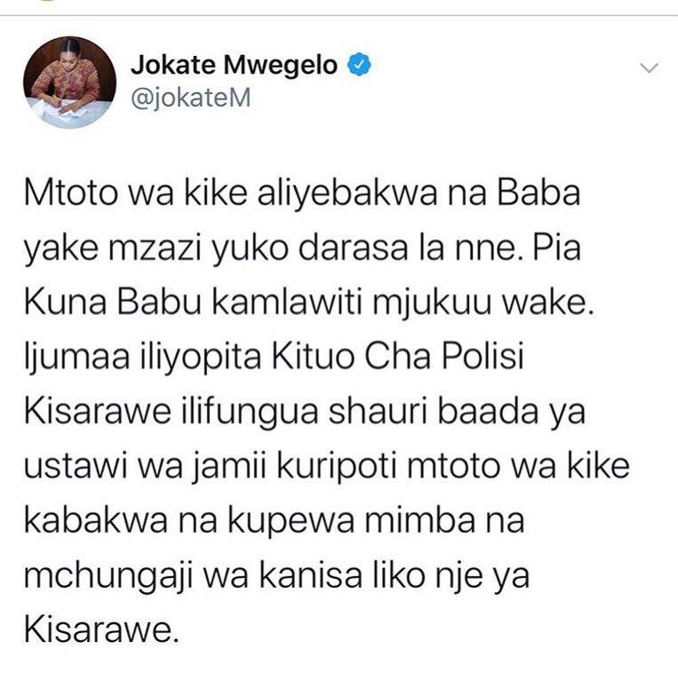 #Bongo5Updates: Kutoka kwa Mkuu wa Wilaya ya Kisarawe Mh. @jokatemwegelo unahisi kwanini hivi vitendo vimekithiri sana kwenye jamii zetu..? pic.twitter.com/tETfGoX3vM
