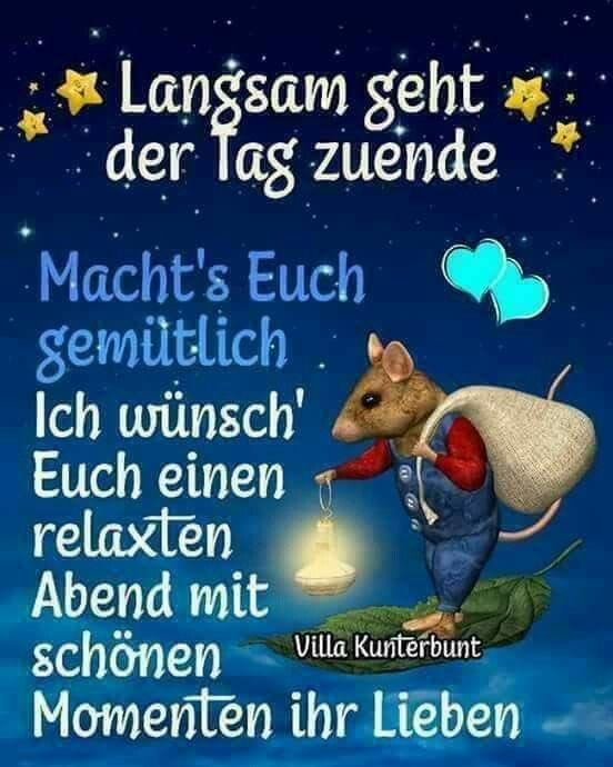 Entspannten abend einen wünsche wünsche Ihnen