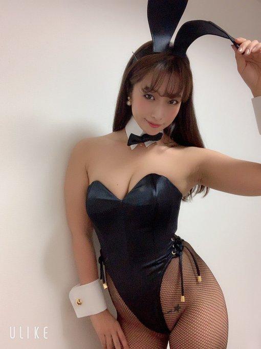 バニーガールの渋谷さんのTwitter自撮りエロ画像8