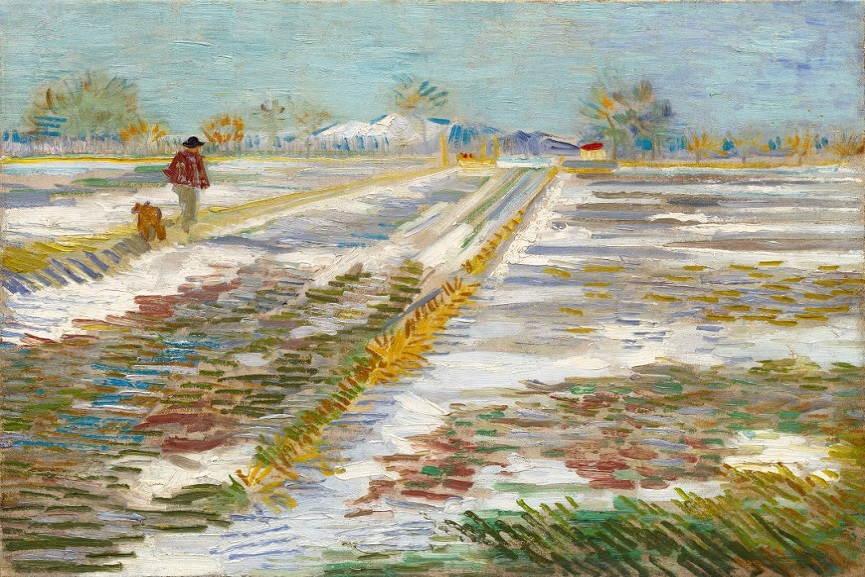 Vincent van Gogh Landscape with Snow <br>http://pic.twitter.com/bDlicg1g3n