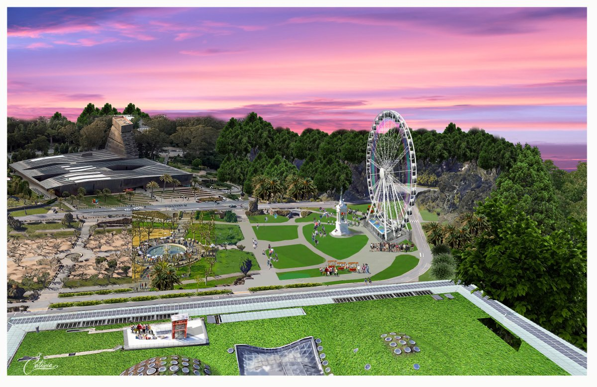 The observation wheel will launch on 4/4/20 and operate through 3/1/21. It is planned for Golden Gate Park's Music Concourse, the outdoor plaza near the @deyoungmuseum, @calacademy & the Japanese Tea Garden. The wheel features 36 fully enclosed gondolas that seat 6 passengers.
