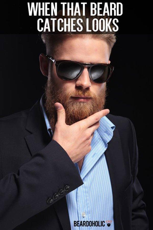 When That Beard Catches Looks... #AwesomeBeard #BeardedLifepic.twitter.com/WXEVizznyb