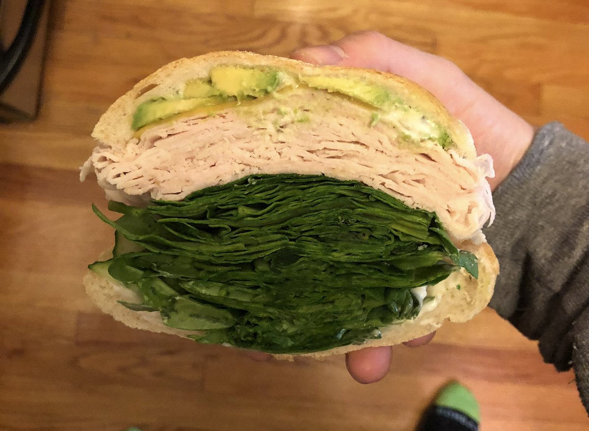 Does this sandwich have too much spinach? Twitter thinks so