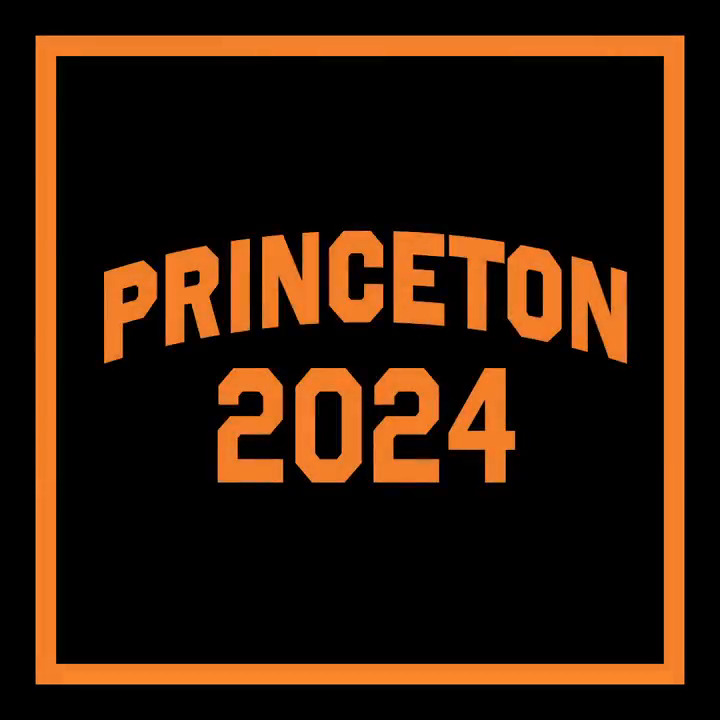 Image for the Tweet beginning: Congratulations to #Princeton2024!  Watch as our