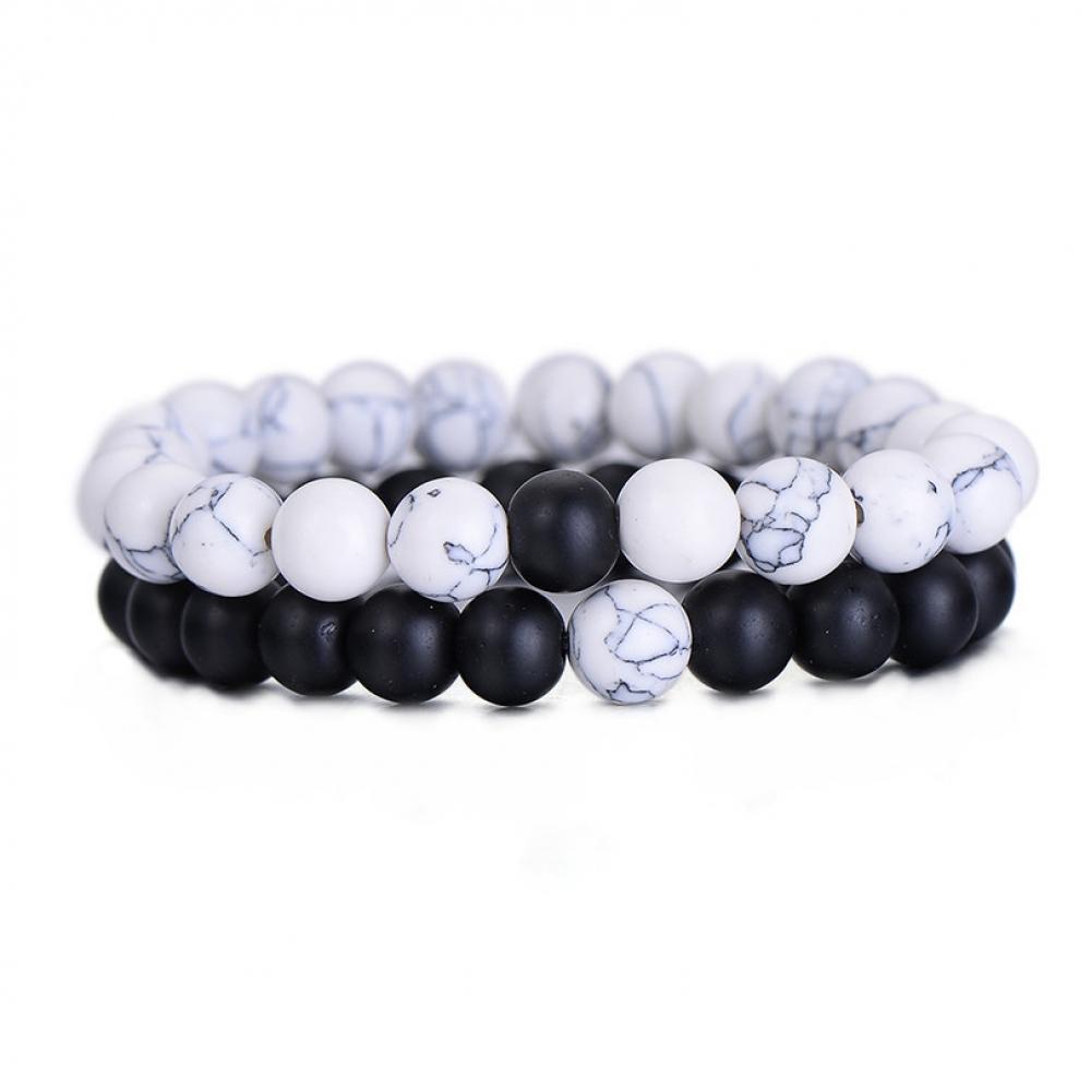 #instagood #beautiful Classic Natural Stone Yin Yang Beaded Bracelets, 2Pcs/Set<br>http://pic.twitter.com/sT8HxzaE1U