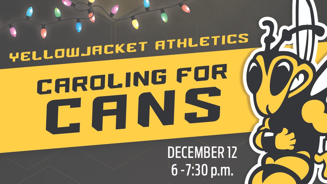 A fresh blanket of snow sets the scene for TONIGHT as Yellowjacket student-athletes will be going door to door caroling & collecting donations for the St. Vincent de Paul food shelf. Please help support this important cause! https://t.co/BhgYqwuAFg https://t.co/79xGyrSC8O