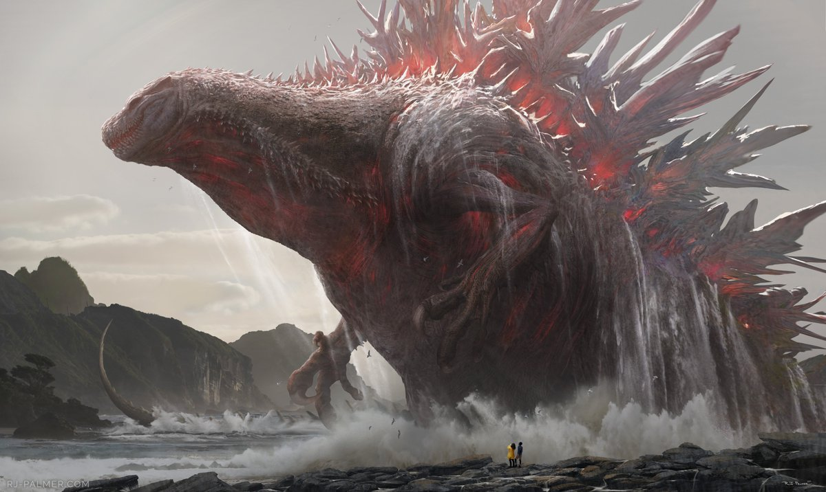 I think one of the most underutilized themes of Godzilla illustration(Godzillastration) is just the sheer awe it would inspire to see something so massive emerging from the sea. <br>http://pic.twitter.com/M9gwAhKt3e