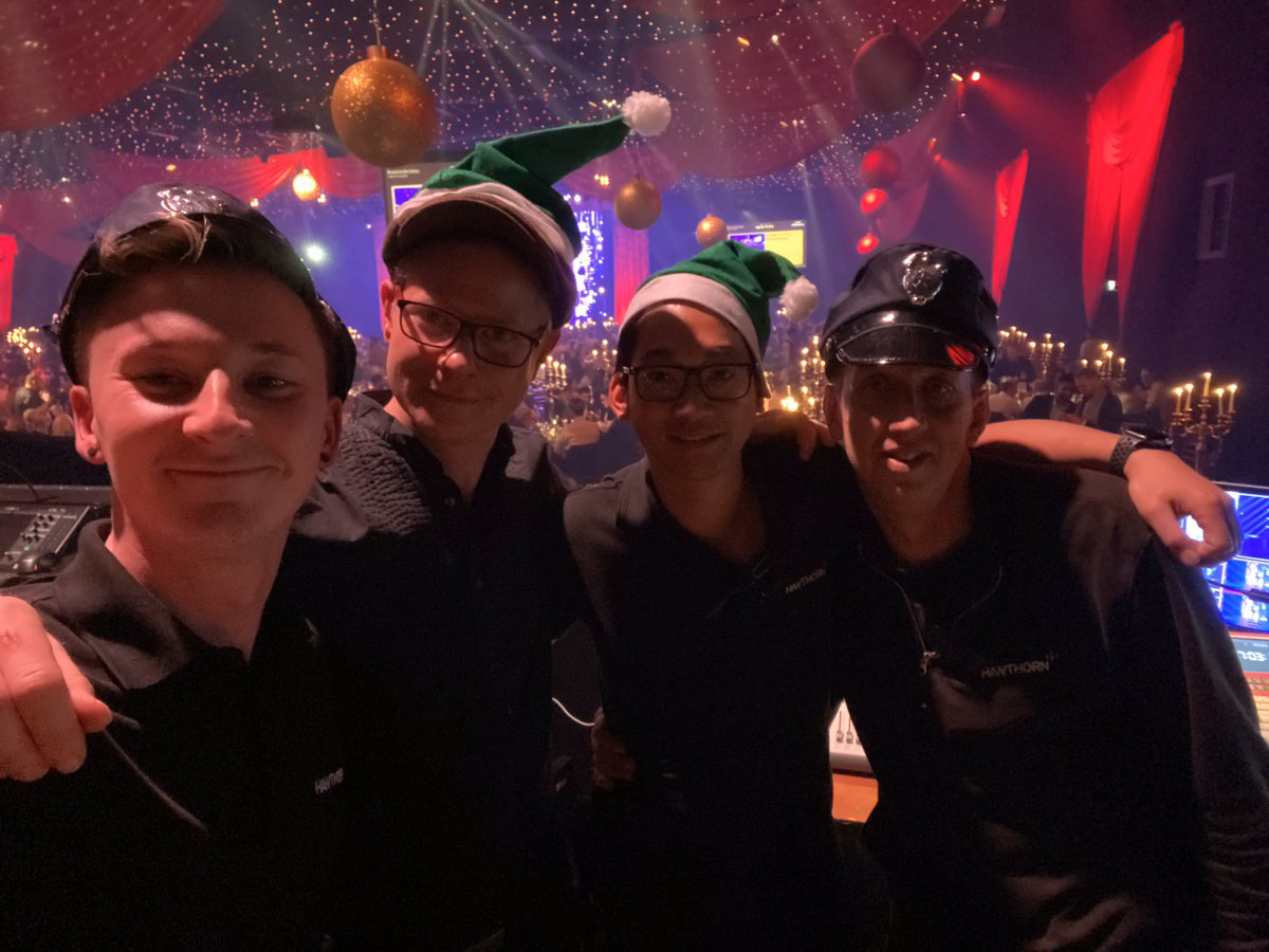 Me and the boys from @hawthornbiz throwing a bit of Christmas cheer in to another night at work!    #dj #voiceofgod #smarterchristmas<br>http://pic.twitter.com/TFosh9Quo0