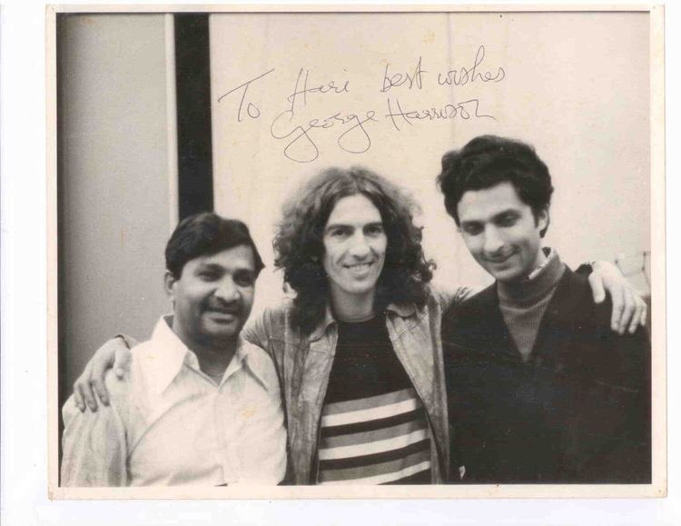 Hariprasad Chaurasia with #GeorgeHarrison & also pictured Pt. Shivkumar Sharma. Sometimes he would play ball or go for a run, or at other times he would just want to share stories. -Hariprasad Chaurasia, 2018