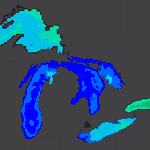 Image for the Tweet beginning: Watch the lakes turn cold!