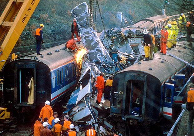 On This Day In 1988, 35 people died and 100 were injured after 3 trains were involved in a collision during the morning rush hour at Clapham Junction In South London. #OnThisDay    #England    #SouthLondon   #ClaphamJunction   #RailCrash