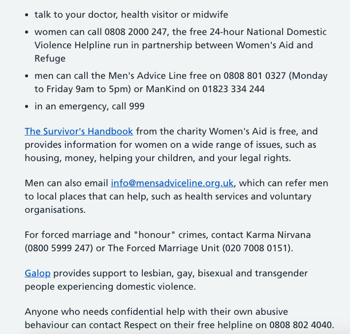 Tonights #WeNurses on Domestic Violence and Abuse was a very tough topic and may be an issue for many people There is some great advice via NHS Choices here .. along with some helpline phone numbers if you need them > nhs.uk/live-well/heal…
