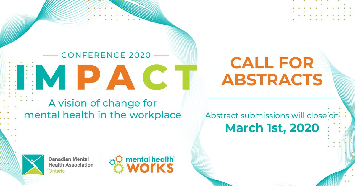 test Twitter Media - We invite you and your organization to submit for consideration #abstracts for our healthy workplaces conference, IMPACT: A vision of change for mental health in the workplace, June 1-2, 2020! Read more here: https://t.co/bl0kUHG5t8 #mentalHealthWorks #callforabstracts https://t.co/Upyawp6VN8