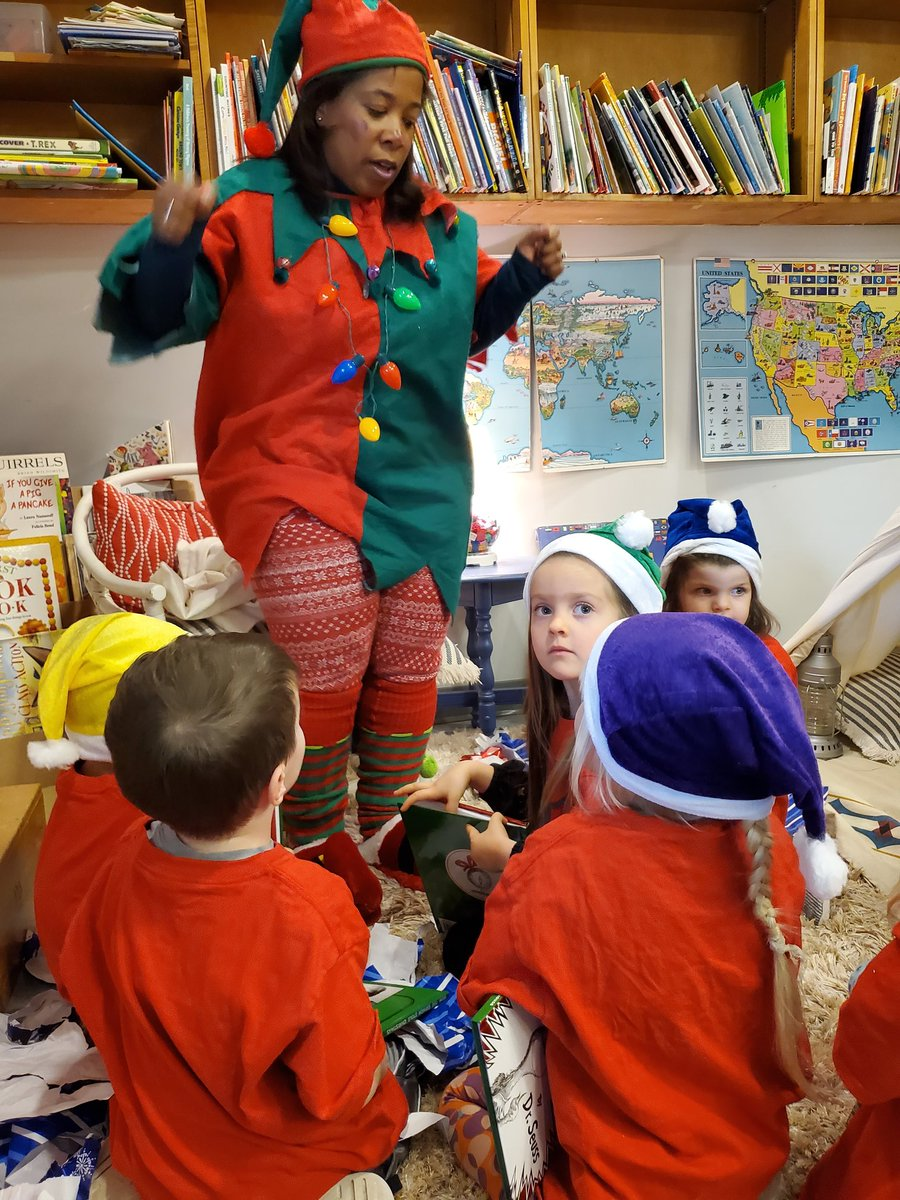 Jingles the Holiday Elf reads the Grinch Who Stole Christmas to the YHS preschool class....making sure they are behaving before Santa arrives.<a target='_blank' href='http://twitter.com/YorktownHS'>@YorktownHS</a> <a target='_blank' href='http://twitter.com/YorktownSentry'>@YorktownSentry</a> <a target='_blank' href='http://twitter.com/YorktownAPs'>@YorktownAPs</a> <a target='_blank' href='http://twitter.com/Principal_YHS'>@Principal_YHS</a> <a target='_blank' href='http://twitter.com/APSVirginia'>@APSVirginia</a> <a target='_blank' href='http://twitter.com/YorktownYB'>@YorktownYB</a> <a target='_blank' href='https://t.co/h9WPlnVdr4'>https://t.co/h9WPlnVdr4</a>