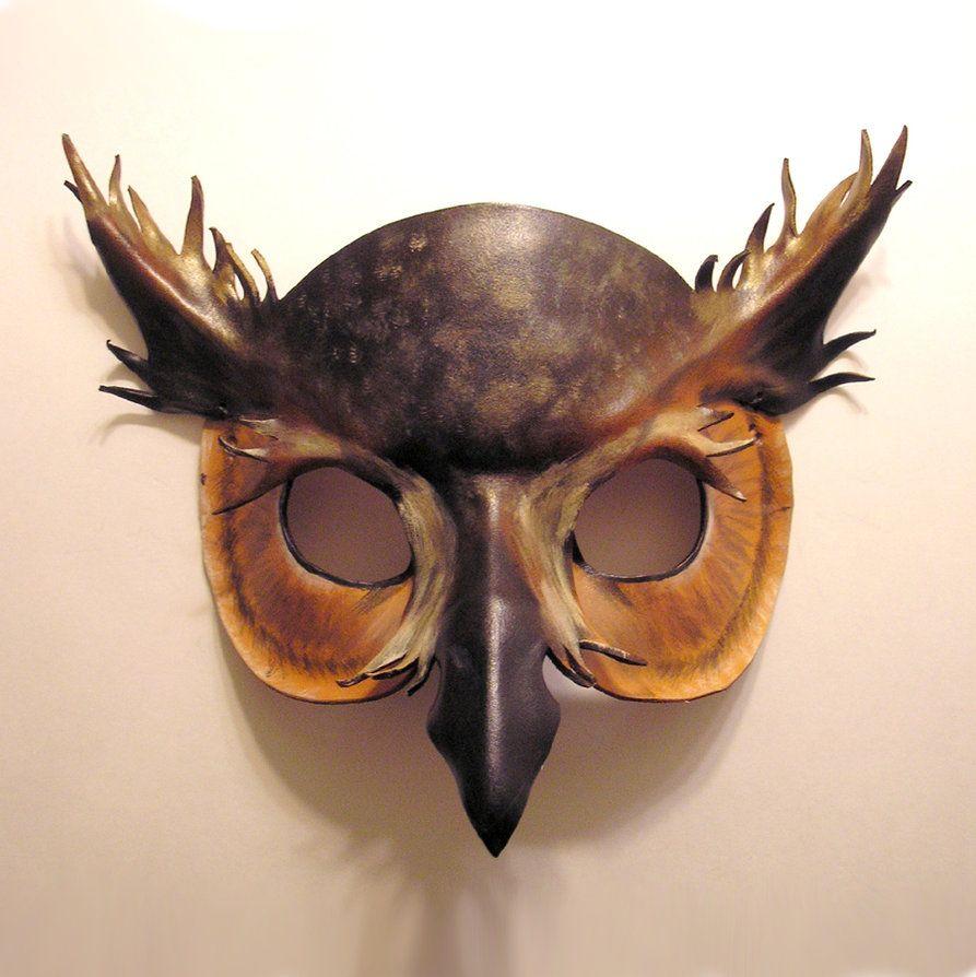 как фото маски совы позолоченные