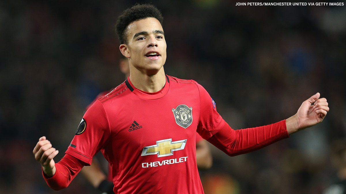 18-year-old Mason Greenwood is the youngest player to score a brace in major European competition for Manchester United 👏 (h/t @OptaJoe)