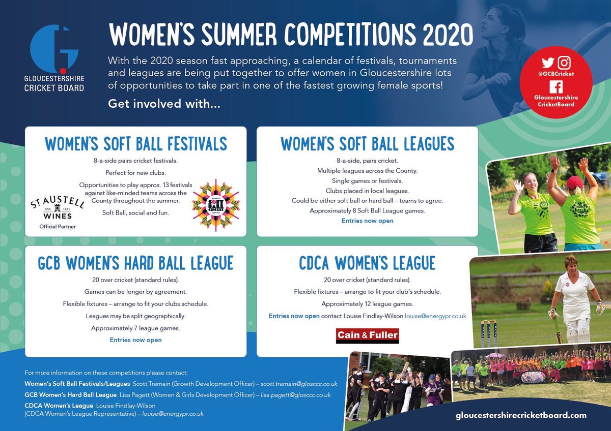 test Twitter Media - Women's teams - your deadline is tomorrow too for GCB leagues! Make sure you sign up for a brilliant summer of cricket in 2020! Pls RT! More info ➡️ https://t.co/GUGd1cHtor https://t.co/jSroOcQqKg