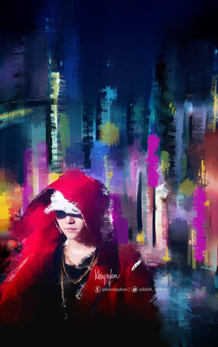 """thiswandering, with only blueness inside myhead"" ~ SUGA's Interlude #btsfanart @BTS_twt #Yoongi #art"