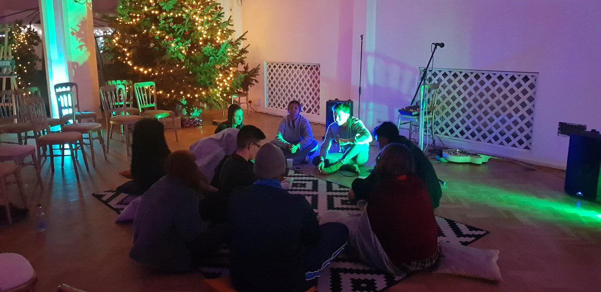 Meditation circle to close out Headspvce. Incredible night.