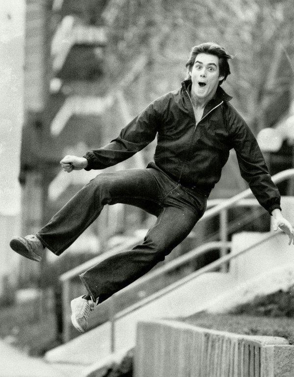 Jim Carrey a los 19 años de edad.