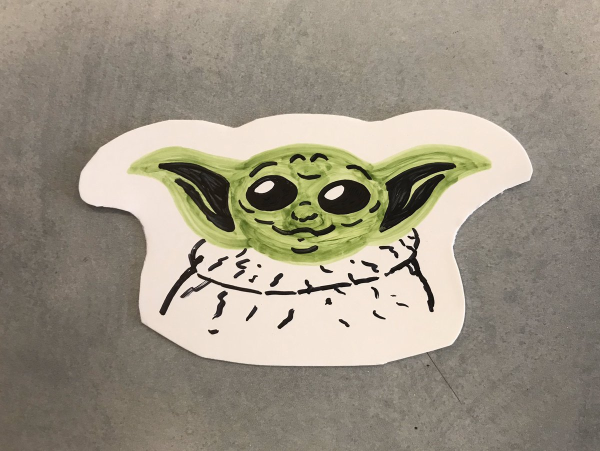 Highlight of being a professional geek today: being paid to draw this.  #babyyoda<br>http://pic.twitter.com/zqB4OCncEC