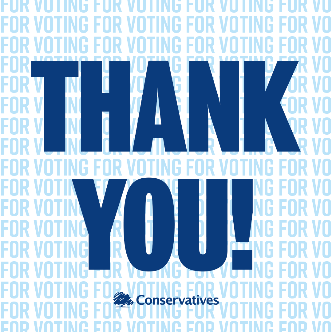 THANK YOU to everyone who voted Conservative! 💙🇬🇧🌳 https://t.co/j9snUE43q0