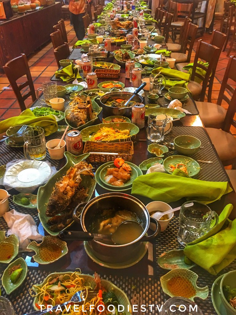 After #incredible #Tour Excursions #HoChiMinhCity #Saigon #MekongDelta #MekongRiver #Vietnam #RegentCruises #Amazing we loved #delicious #dinner #party w/ #wonderful #friends & #Vietnamese #cuisine This was aftermath of rich #travel day on many levels #cruise #luxurytravel #Spon