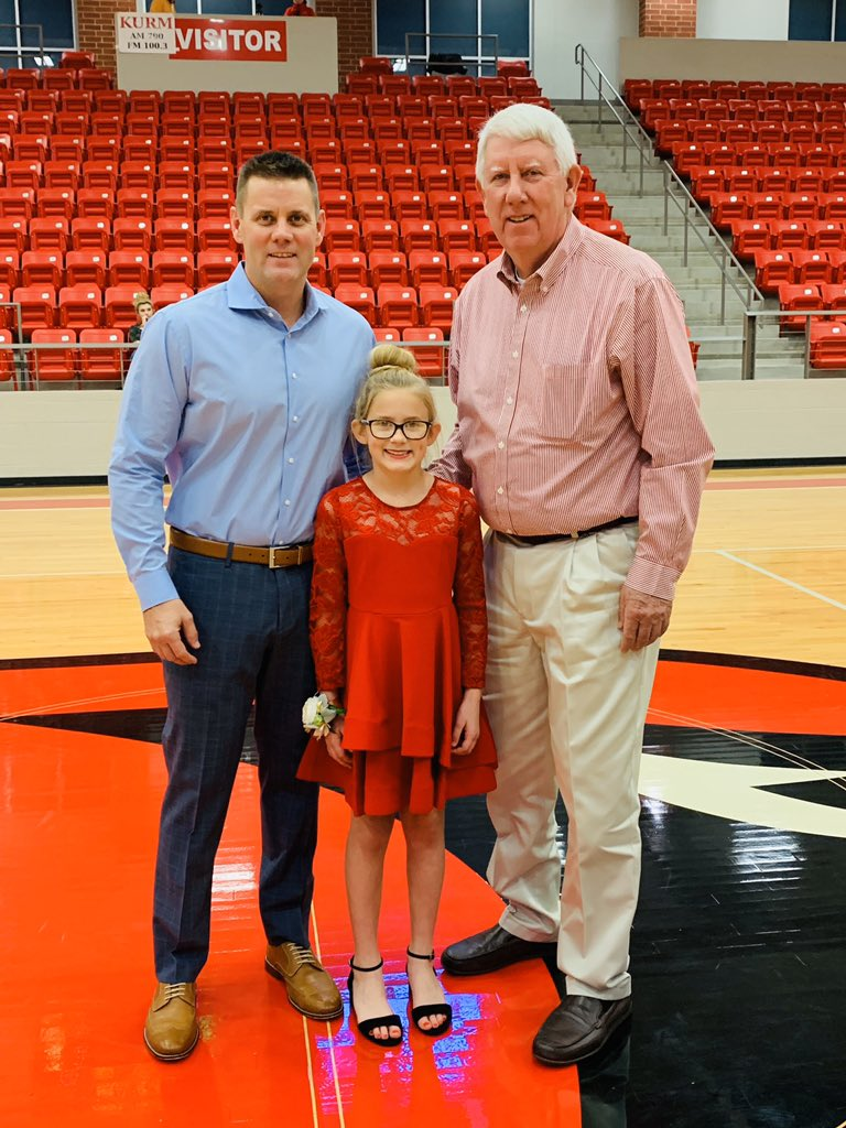 Had to miss 4th grade daddy-daughter dance due to games tonight. Instead she got to go with the finest man I know- her Pappy #growuptoofast<br>http://pic.twitter.com/fwvcavLCA9