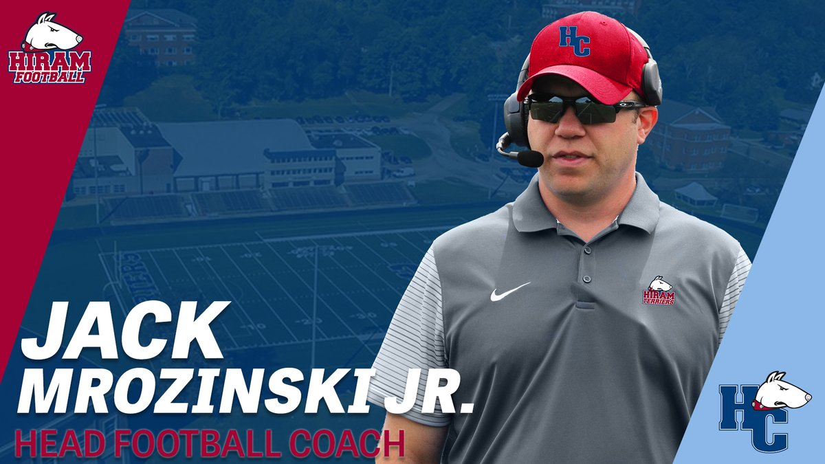 We are thrilled to announce Jack Mrozinski Jr. as the new head coach of @Hiram_Football! Mrozinski joins the Terriers from Salve Regina University in Newport, R.I. where he served as the Defensive Coordinator for the past three seasons #TerrierNation  :  http:// bit.ly/36Fvbrl    <br>http://pic.twitter.com/VjGEWM8S08