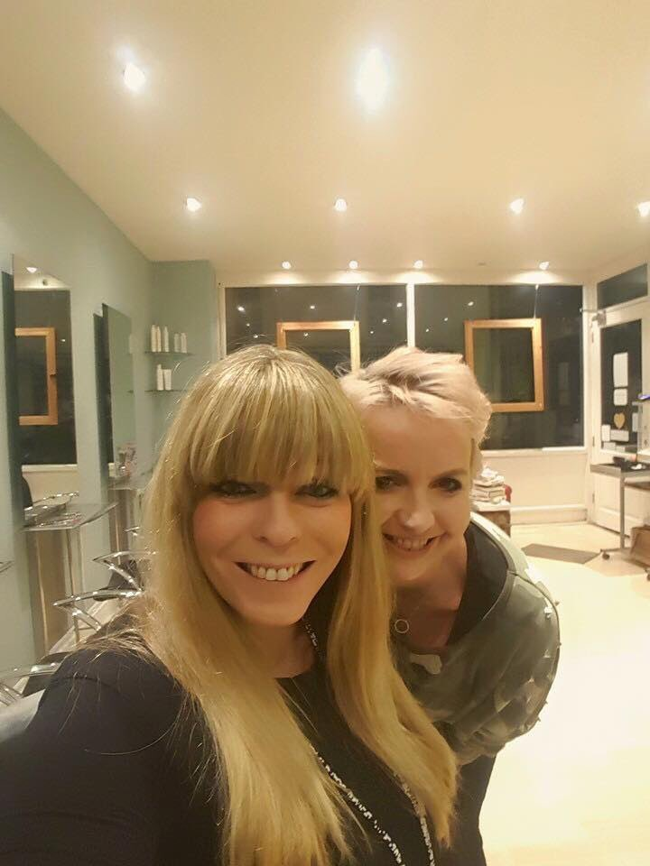 If you want a change but are afraid to go for the big chop #fringes are a great alternative #newyou #hairtransformation #haircut #blondehair #headdalkey #hairtherapy #hairart