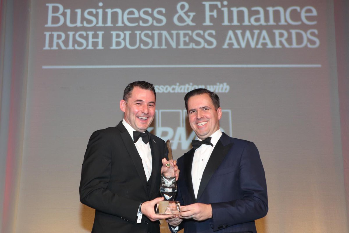 Congratulations to @Intel_IRL on being named FDI of the year @BandF Awards this eve. Huge contribution to the Irish economy over the past 30 years. #BandFAwards