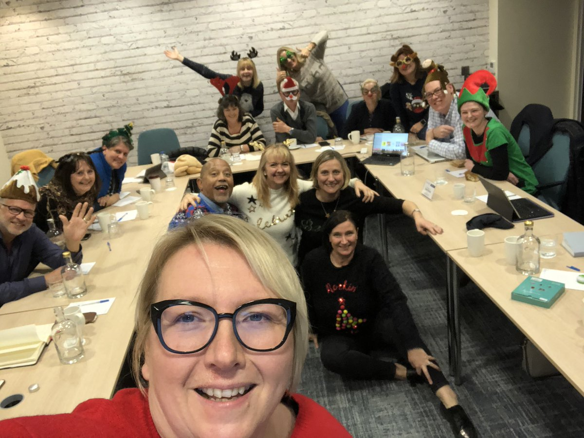 Best team ever ... #teamedit end of year meeting these are our some of our UK folks and the global team all dialled in with Christmas Jumpers!! pic.twitter.com/DAlClF0xqs