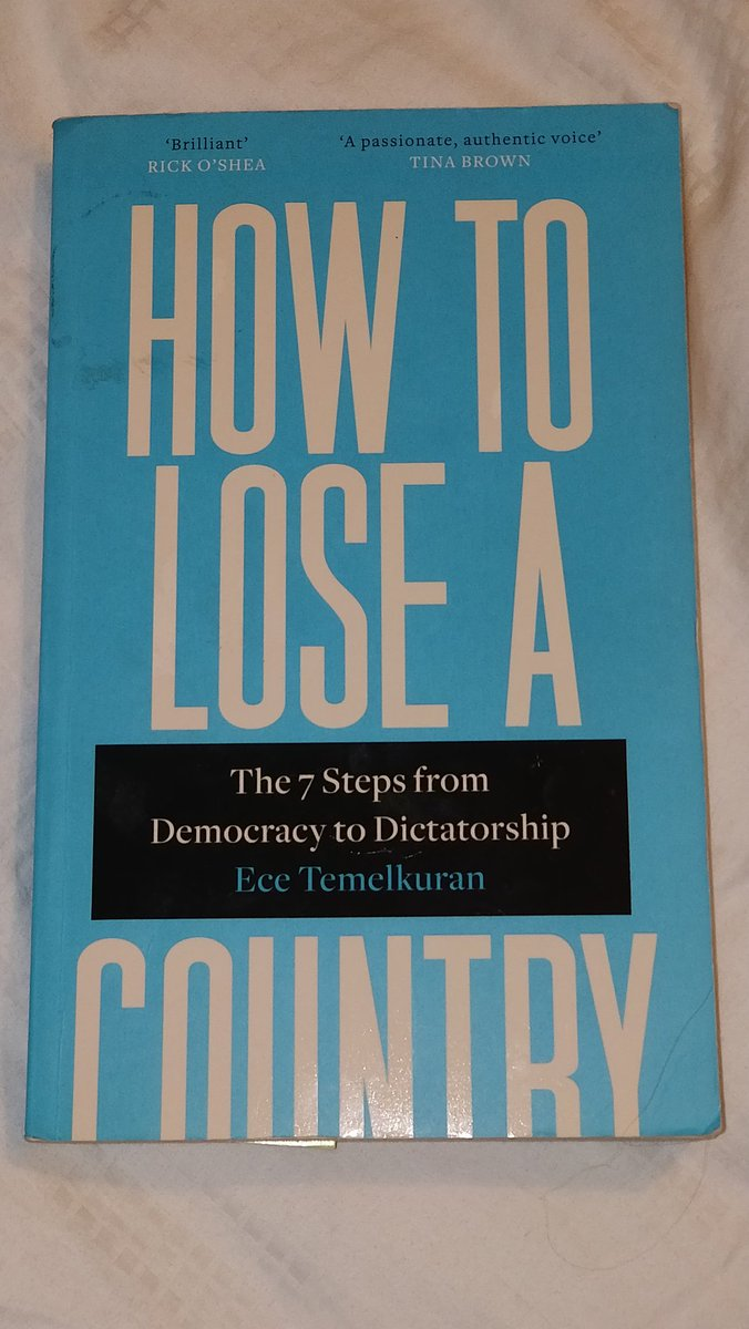 """If you can't understand how the hell the political landscape is as it is & what is going on in the UK right now read """"How to lose a country"""" by Ece Temelkuran. She has dug deep into the issue & revealed the roadmap to this catastrophe. #GeneralElection2019 #PoliticsLive #WTF2019 pic.twitter.com/EtBBJTlx52"""