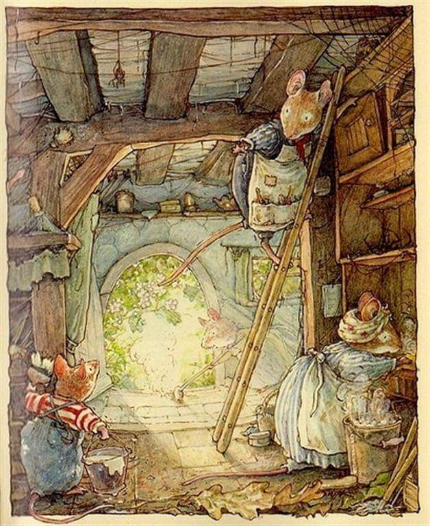 Let's just move to Brambly Hedge. (illustrations by Jill Barklem) <br>http://pic.twitter.com/qC6YEDpuoc
