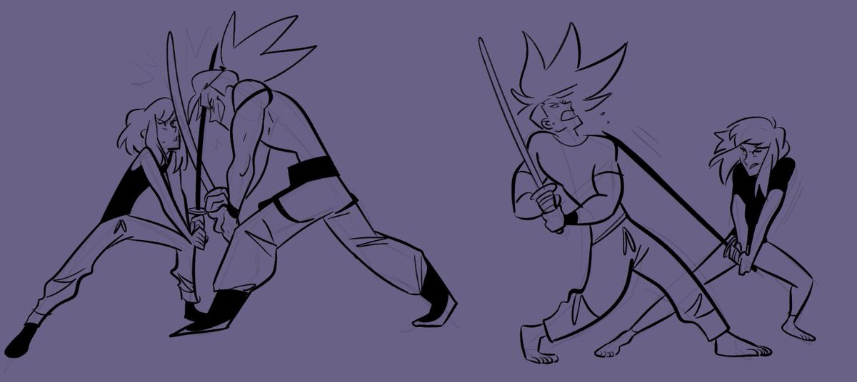 galolio sparring aka practicing posing and drawing fight scenes