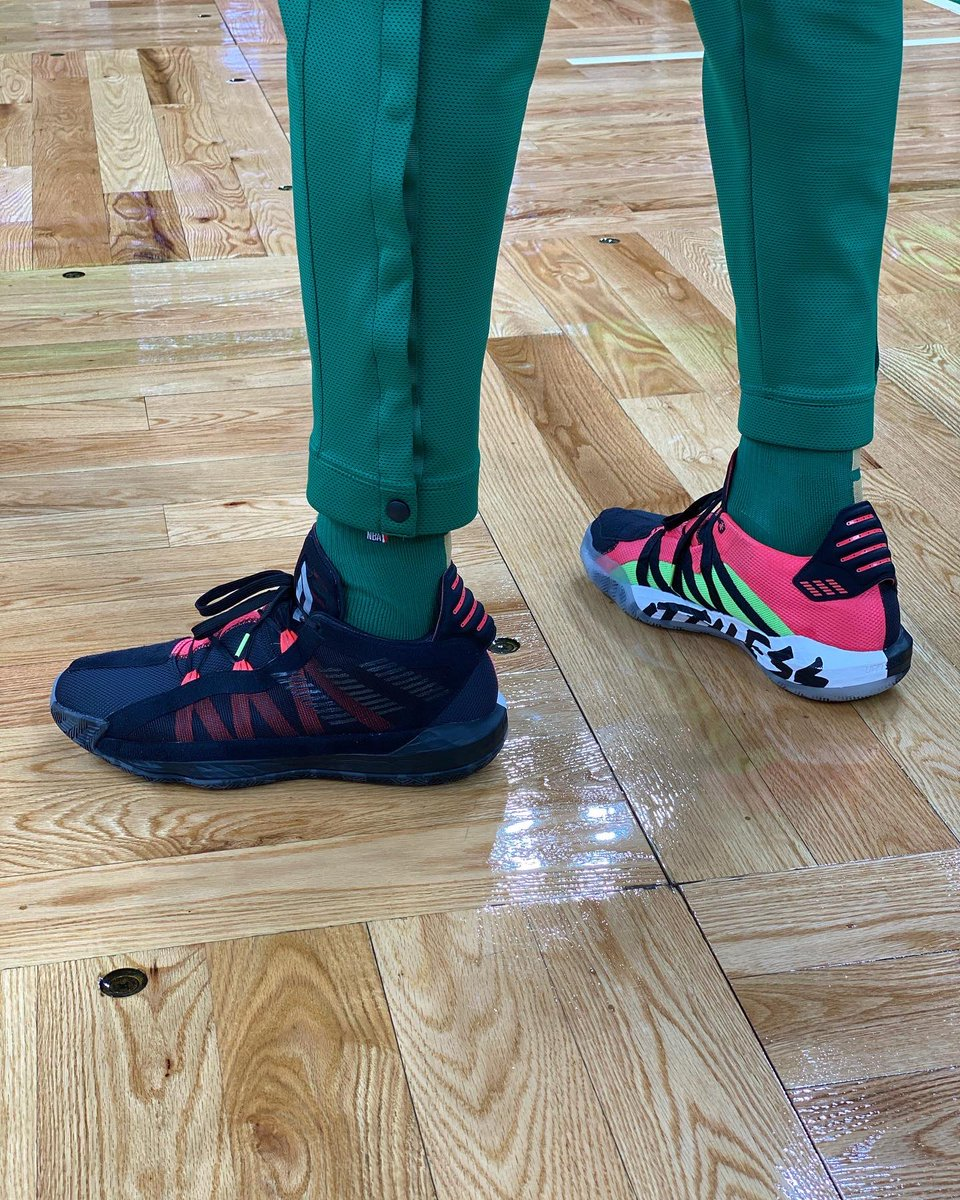 "adidas Dame 6 ""Ruthless"" for @FCHWPO before TNT tip! #NBAKicks"