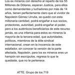 Image for the Tweet beginning: 🔴 Ex trabajadores #mineros conocidos