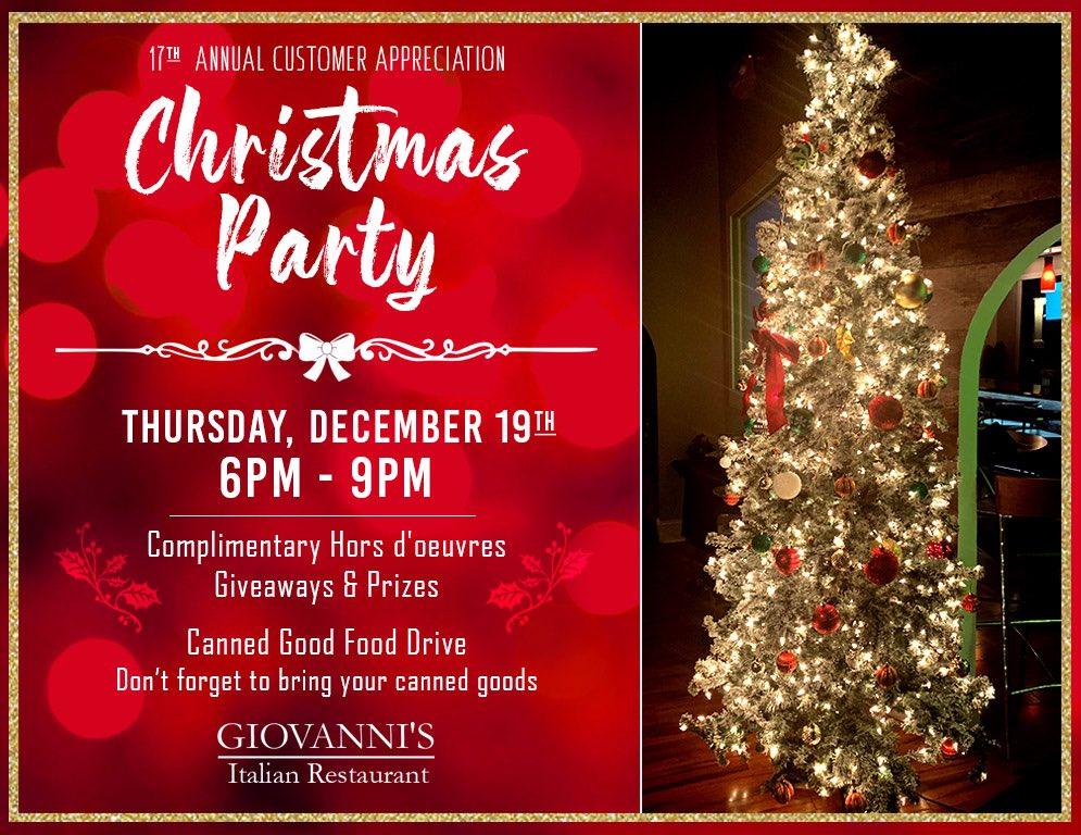 Join us for our annual Christmas Party! December 19th from 6 - 9PM. #greensboro #gboro #triadnc #piedmonttriad #grandover #sedgefield #gtcc #adamsfarm #jamestownnc #highpoint #hpu #uncg #greensborofoodie #greensboroeats https://t.co/TOEg1RuO4L