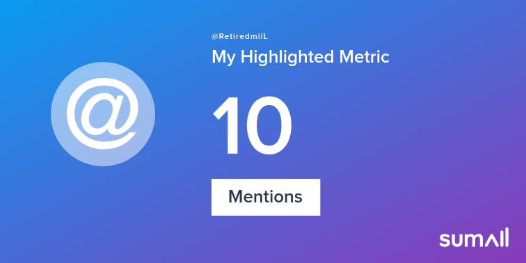 My week on Twitter 🎉: 10 Mentions. See yours with sumall.com/performancetwe…