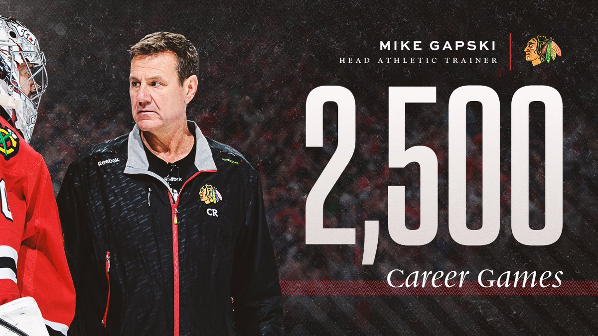 An incredible accomplishment.   Thank you everything you do for our team, and congrats on this remarkable milestone, Gapper! #Blackhawks