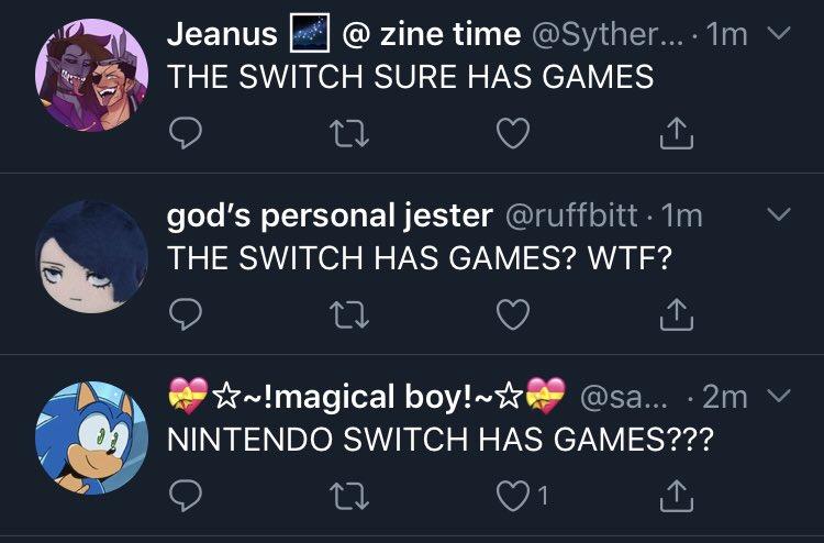 nintendo switch has games