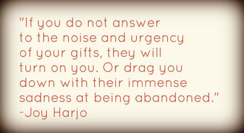 Joy Harjo — what if we all experienced each other stories? — #worldkindnessday could beeveryday  #WritingCommnunity   http:// tealeavesamemoir.wordpress.com/2019/11/14/joy    …<br>http://pic.twitter.com/54lwdvTGyu