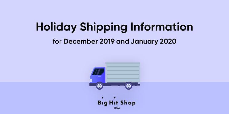 El servicio de envío de Big Hit Shop USA experimentará algún retraso durante esta temporada de vacaciones en diciembre de 2019 y enero de 2020 🚚. ¡Por favor, consulte nuestro calendario de envío de vacaciones! 👉 bit.ly/36qW3ec #BigHitShopUSA