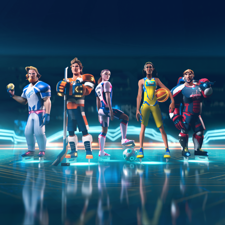 58 pro athletes. From 5 sports. All on 1 rink. It's anyone's game.Play as your favorite athlete in Ultimate Rivals: The Rink on #AppleArcade: https://t.co/uCNvxych6v @Ultimate_Rivals
