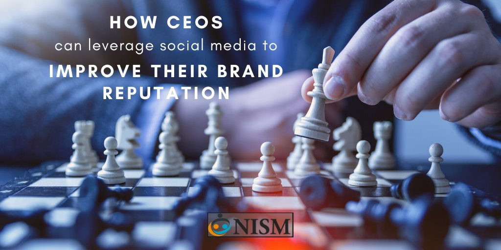 """It's time for #CEOs to take control of their #brandreputation. A great way to start is by claiming their personal #brand across #socialmedia platforms and creating #thoughtful, #relevant, and #engaging content."" New on the NISM #blog ▶️http://bit.ly/34OA3cU"