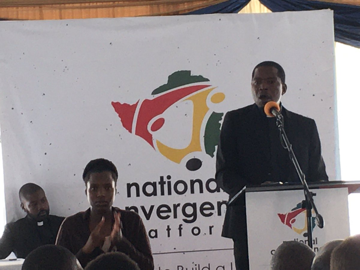 Impressive speech by @kennethmtata at @zccinzim National Convergence Platform launch