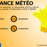 Image for the Tweet beginning: 🔶 12 dpts en #vigilanceOrange  Restez