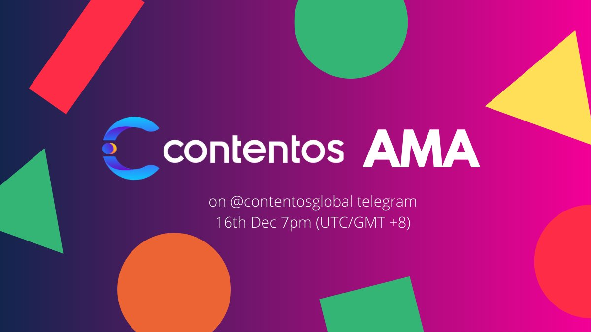 Tweet by @contentosio