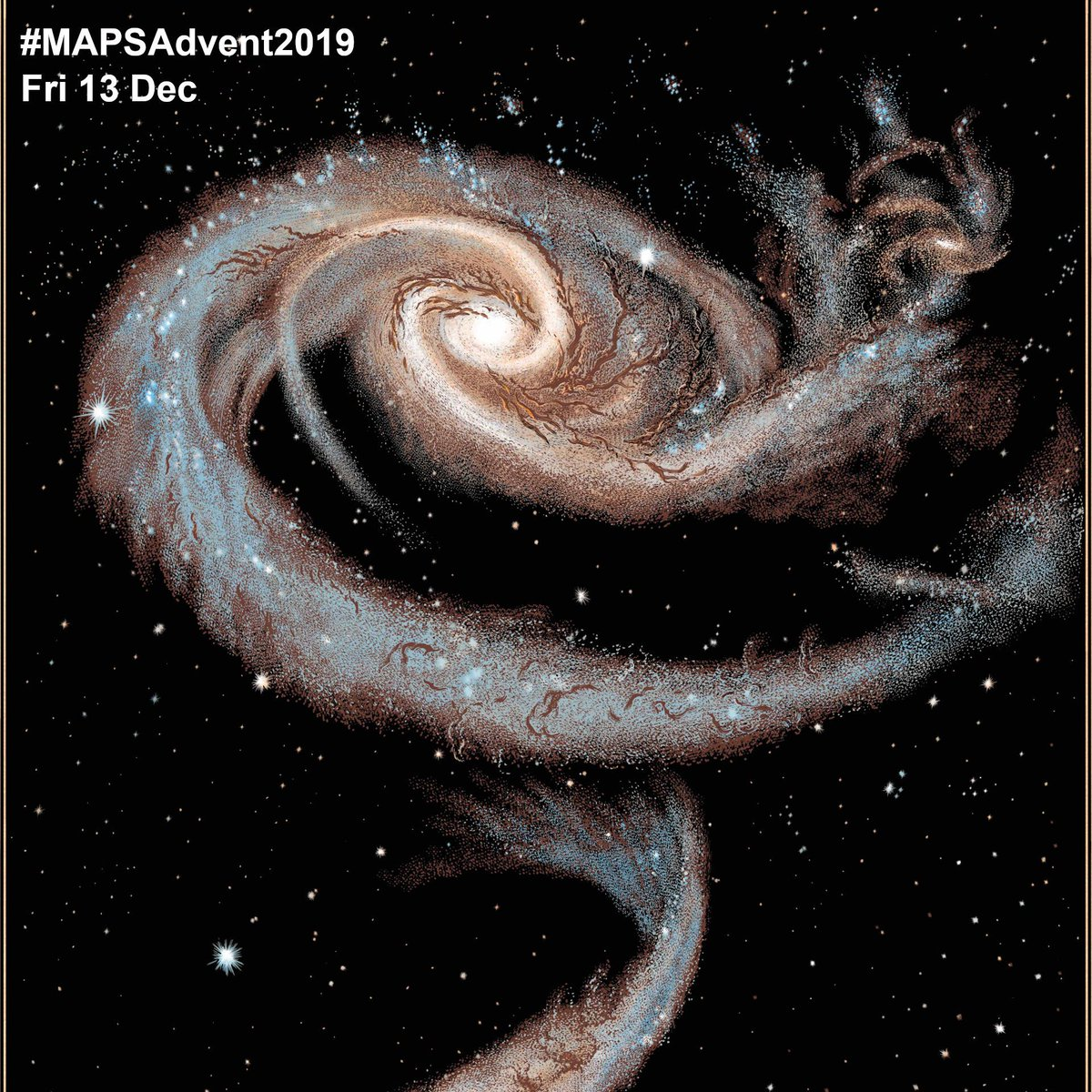 Day 13 of #MAPSAdvent2019 brings us an award winner. Head of UCL Physics Department Professor Raman Prinja and illustrator Chris Wormell created the book 'Planetarium', which in 2019 won prizes from @AIP_HQ and the @royalsociety - for more info, read ucl.ac.uk/news/2019/nov/…